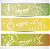 Biology web banners — Stock Vector