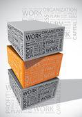 Business words cube — Vecteur