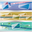 Banners with glass tablets — Stock Vector #71409301