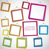 Colorful frames on the white background — Stock Vector