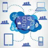Cloud technology infographics — Stock Vector
