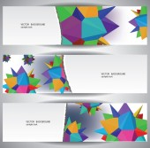 Abstract Web Banners — Stock Vector