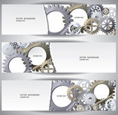 Gears web bannes — Stock Vector