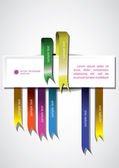 Colored Ribbon banner — Stock Vector