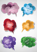 Colored speech bubbles — Stock Vector