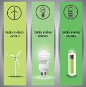 Green energy banners — Stock Vector