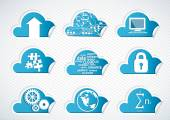 Cloud technology icons — Stock Vector