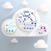 Cloud technology image — Stock Vector