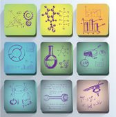 Set of the scientific symbols — Stock Vector