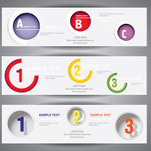 Numbered web banners — Stock Vector