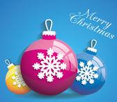 Christmas balls background — Stock Vector