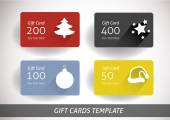 Christmas gift cards — Stock Vector