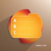 Orange folder with white letters — Stock Vector