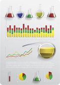 インフォ グラフィック以来化学 — ストックベクタ