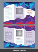 Polygonal brochure design set — Stock Vector