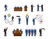Business people in flat style — Stock Vector