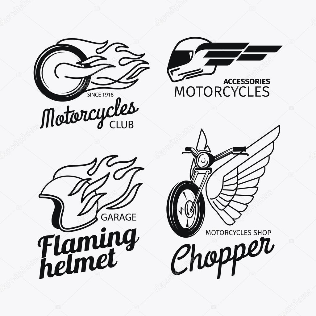 motos carrera logo set � vector de stock 169 ssstocker 82301442