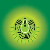 Save energy concept vector illustration — Stock Vector