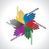 Business team work idea concept vector — Stock Vector
