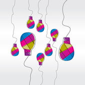 Colorful bulb idea concept — Stock Vector