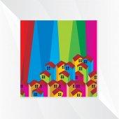 Huizen pictogram — Stockvector