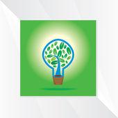 Creative bulb green idea — Stock Vector
