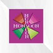 Monsoon season concept — Stock Vector