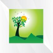 Zelená krajina — Stock vektor