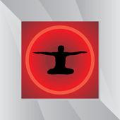 Yoga concept — Stock Vector