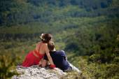 História de amor nas montanhas — Fotografia Stock