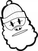 Bearded man — Stock Vector