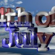4th of July with american flag — Stock Photo #70755411