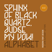 Sphinx of black quartz, judge my vow! — Stock Vector