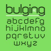 Bulging alphabet — Stock Vector