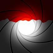 Gun barrel with blood — Stock Vector