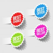 Best choice, best offer, best product and best seller tags — Stockvector