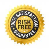Étiquette de garantie sans risque — Vecteur