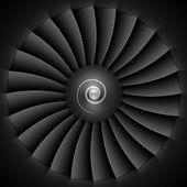 Jet engine turbine blades — Stock Vector