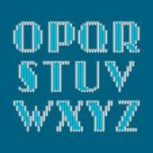Knitted alphabet — Stock Vector