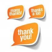 Thank you  grateful bubbles — Stock Vector
