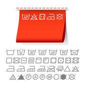 Washing symbols — Stock Vector