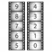Film countdown — Stock Vector