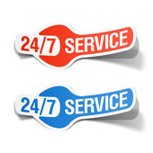 24 hours a day service sticker — Stock Vector