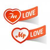 In love, my love labels — Vector de stock