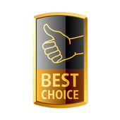 """Best choice"" emblem — Stock Vector"