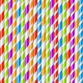 Striped drinking straws background — Stock Vector