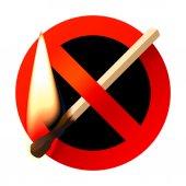 No open fire sign — Stock Vector