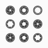 Camera shutter icons — Stock Vector