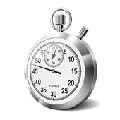 Classic Stopwatch Isolated on White — Stock Vector