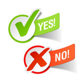 Yes and No check marks — Stock Vector